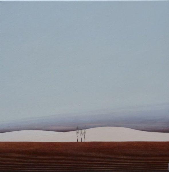 Paysage, huile sur toile, 40 x 40 cm (disponible)