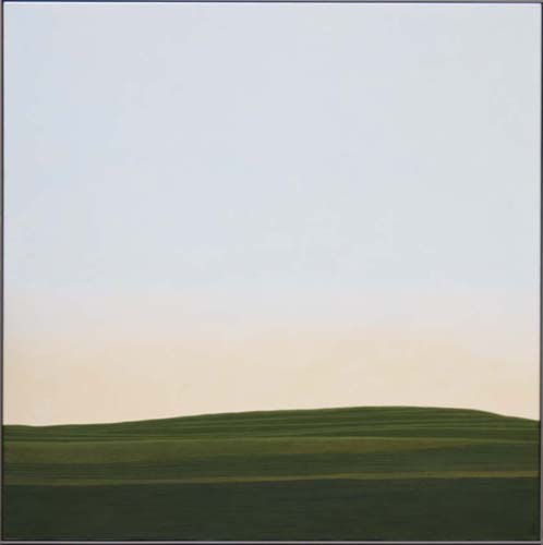Karl Inglin, Paysage, huile sur toile, 100 x 100 cm, p.p. Fribourg