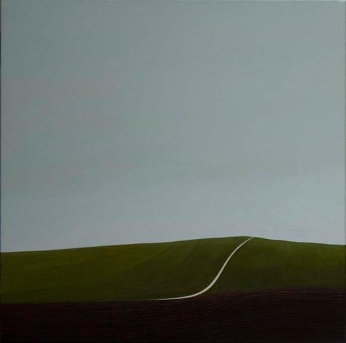 Karl Inglin, Paysage, huile sur toile 60x60 cm (disponible)