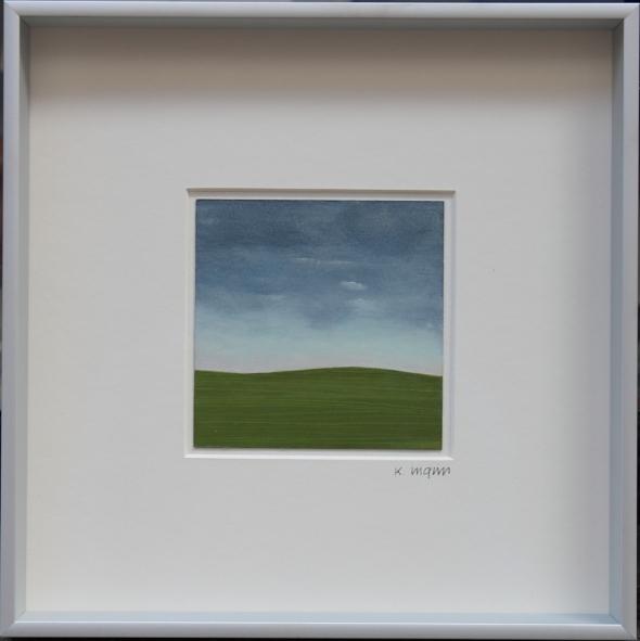 Karl Inglin, Paysage, huile sur carton, 10 x 10cm (disponible)