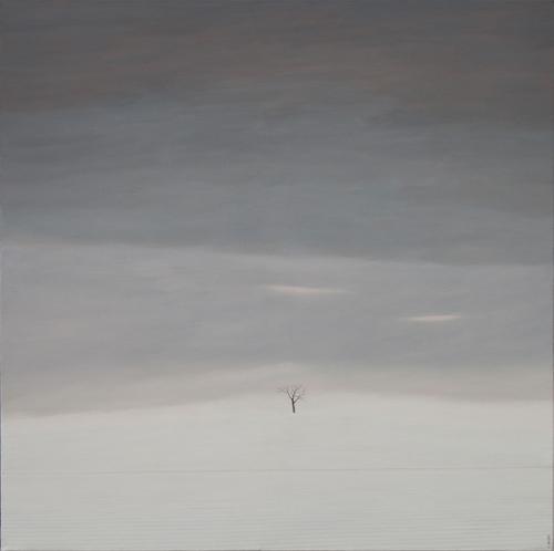 Karl Inglin, Paysage, huile sur toile 100 x 100cm (disponible)