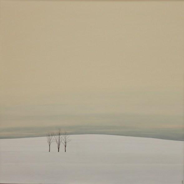 Karl Inglin, Paysage, huile sur toile 100 x 100 cm (disponible)