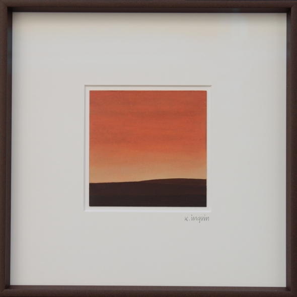 Karl Inglin, Paysage, huile sur carton, 10 x 10 cm