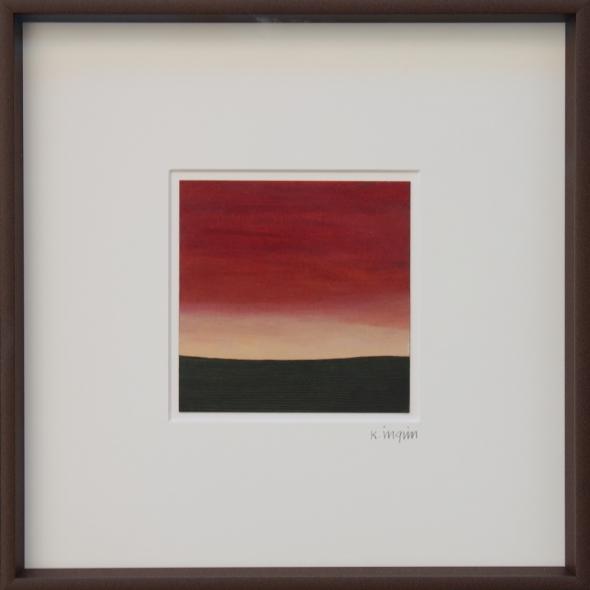 Karl Inglin, Paysage, hule sur carton, 10 x 10 cm