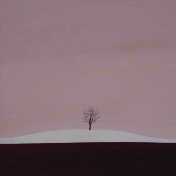Karl Inglin, Paysage, huile sur toile, 60 x 60cm