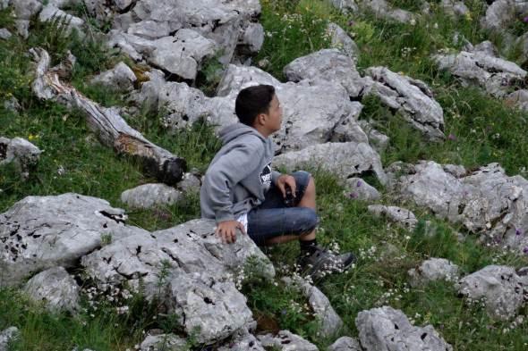 Thomas à l'affut des marmottes