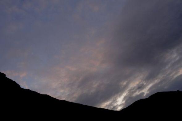 Lentement la nuit tombe sur le Fochsen