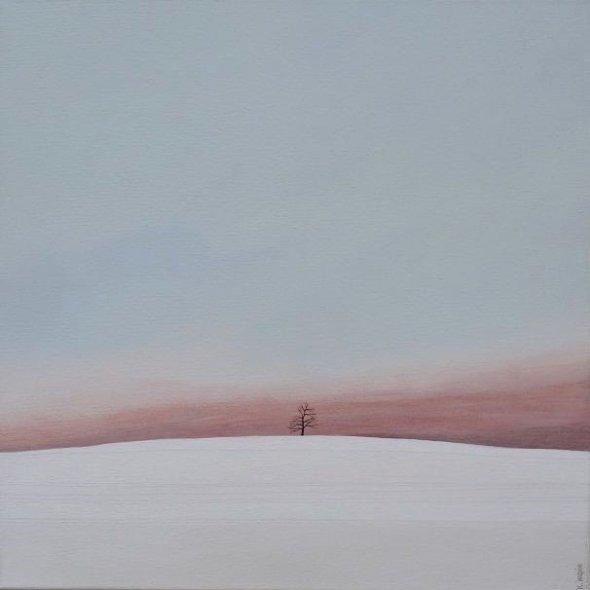 Karl Inglin, Paysage, huile sur toile, 40 x 40 cm