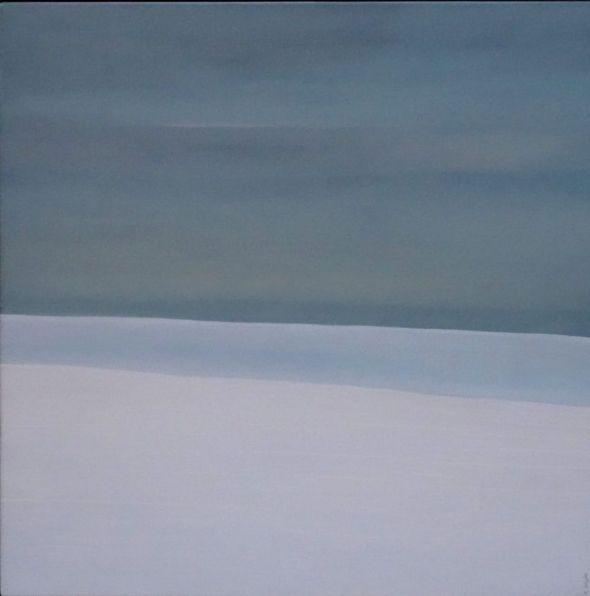 Karl Inglin, paysage, huile sur toile, 60 x 60 cm
