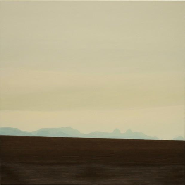 Octobre, hommage à Gustave Roud, huile sur toile, 100 x 100 cm