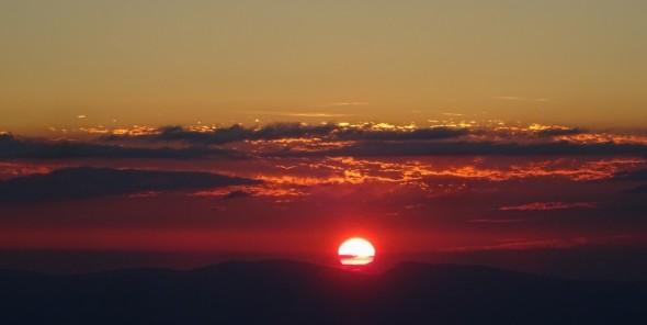 15 août, lever du soleil depuis la Hochmatt