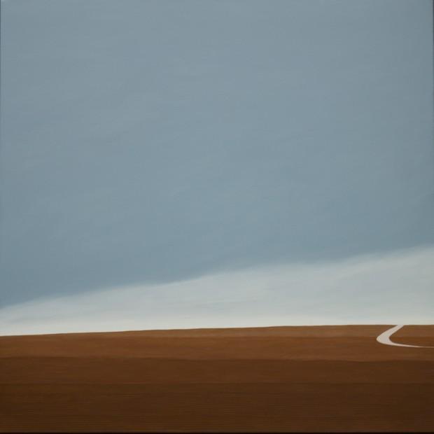 Mars, hommage à Gustave Roud, huile sur toile, 100 x 100 cm