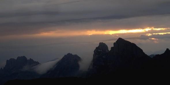 29 août. lever du jour depuis la Selle de Morteys