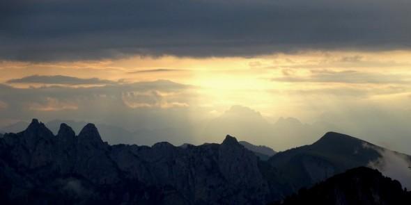 29 août, lever du jour avec les Trois Pucelles