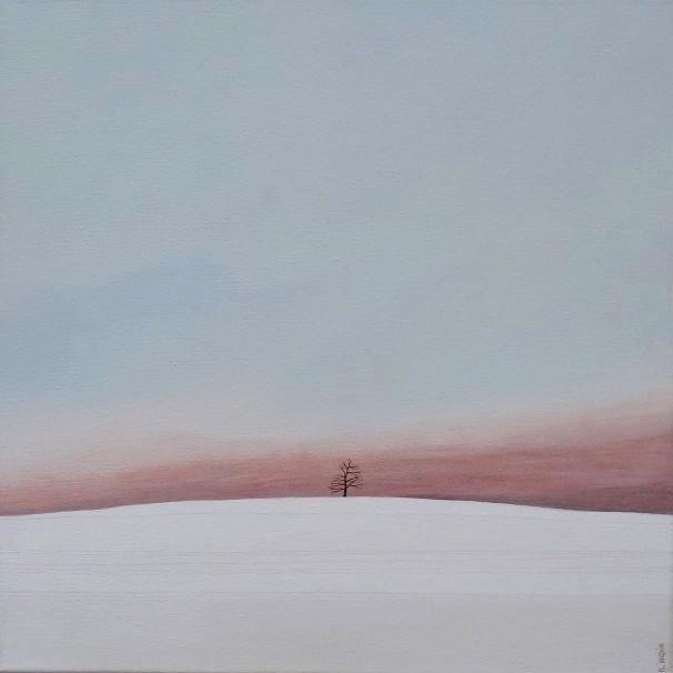 Paysage, huile sur toile, 40 x 40 cm