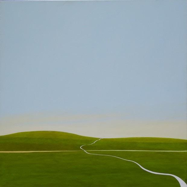 Karl Inglin, huile sur toile, 100 x 100 cm, disponible