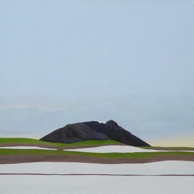 Karl Inglin, Gros Brun, huile sur toile, 100 x 100 cm