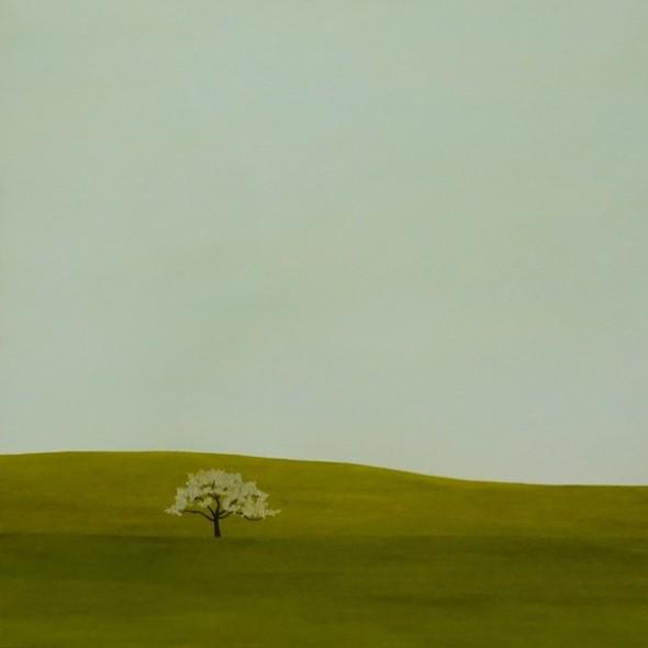 Karl Inglin, Paysage, huile sur toile, 60 x 60 cm, disponible